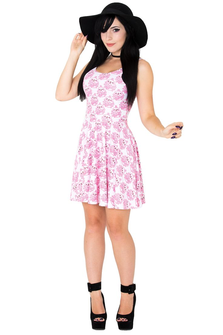 Kittyhawk Clothing Kawaii Skater Dress $75 AUD #kawaii #katyuskamoonfox #superkawaii #kittyhawkclothing #kawaiiskaterdress #skaterdress #kawaiifashion