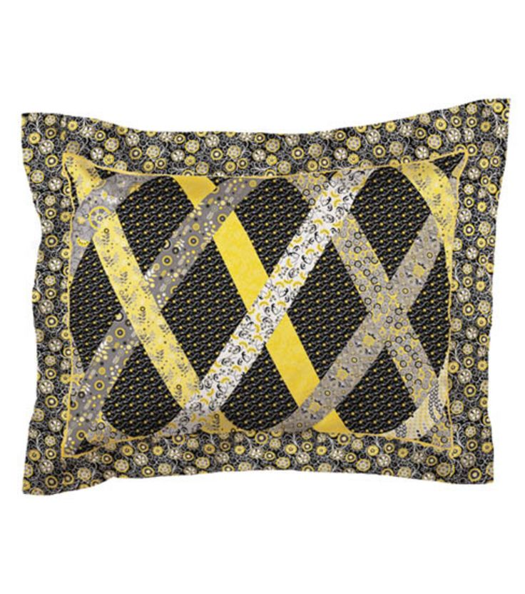 Fabric Central Pillow ShamFabric Central Pillow Sham