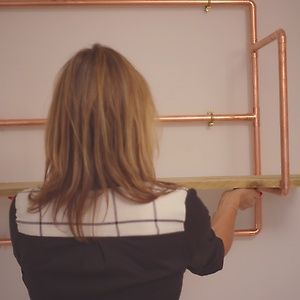 How to create copper pipe shelving