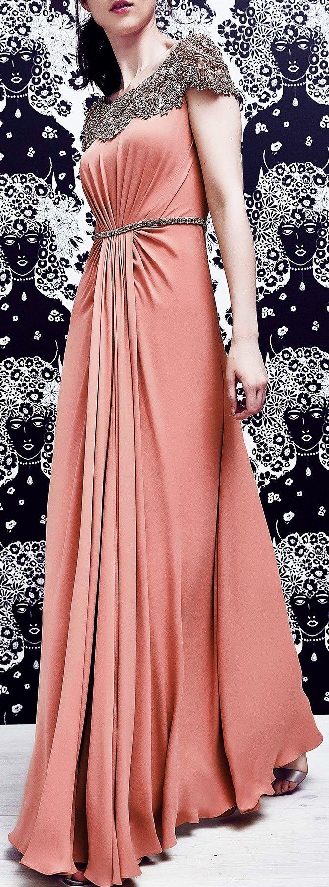 Atractivo Vestidos De Dama Jenny Packham Patrón - Colección de ...