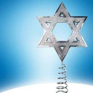 Star of David Hanukkah Tree Topper, Interfaith Holiday Decoration