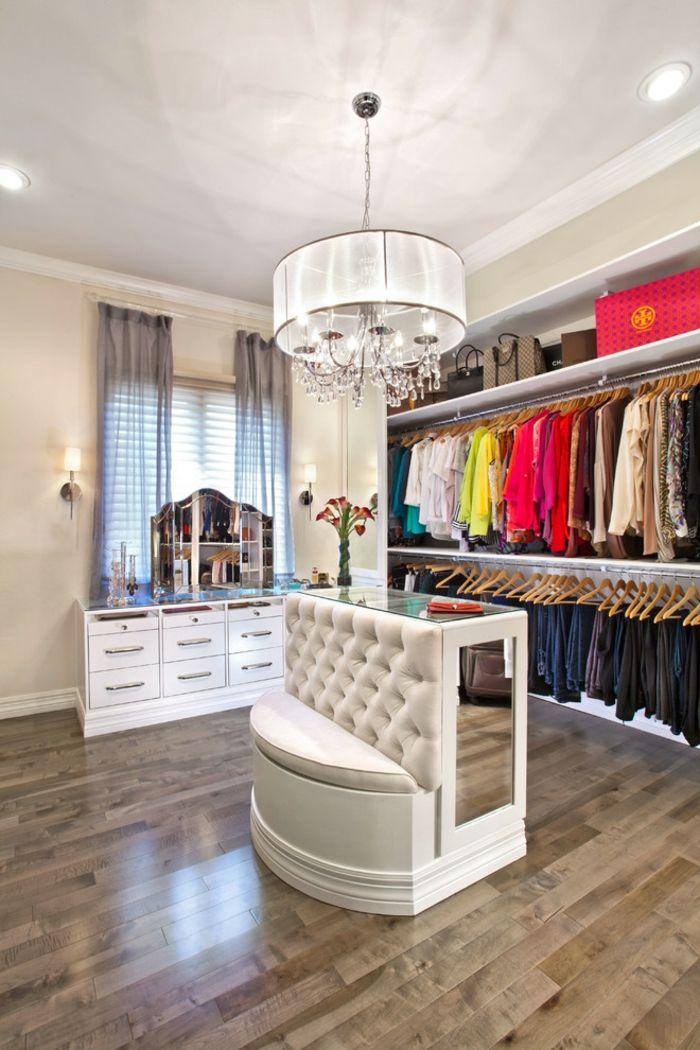 Cute Effekt Offener begehbarer Kleiderschrank System Luxus Ankleide Wei