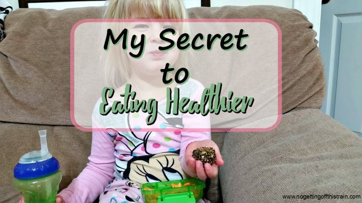 Eating healthier doesn't have to be hard and can be done in small steps! Here's my secret to eating healthier. www.nogettingoffthistrain.com