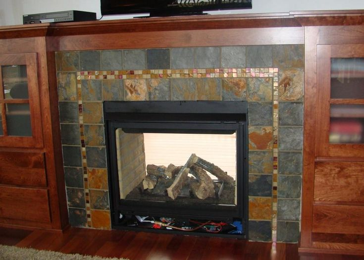 Best Mosaic Tile Fireplace Ideas On Pinterest Fireplace - Brick fireplace tile ideas