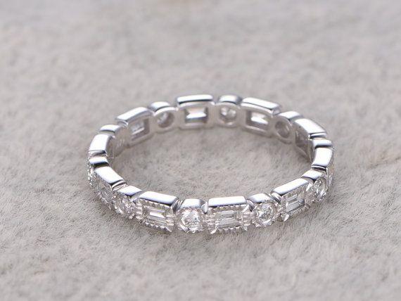 Diamant trouwring, Rose/geel/wit Gold.Every sieraden in mijn winkel moet maken om te bestellen.  ------ Objectgegevens:  Solid 14 K White Gold (goud kleur kan worden gemaakt in wit/geel/roze)  Bandbreedte: 2,40 mm, dikte: 1,75 mm,  Grootte 5# (Ring kan worden aangepast)  0.55ctw ronde volledig SI-H Natural Conflict gratis diamanten geslepen.  Prong, Bezel Set  Andere functie: comfortabele pasvorm  Retail prijs: $3500   ------ Voor de edelsteen ring, het kan bestaan uit Morganite, Moissanite…