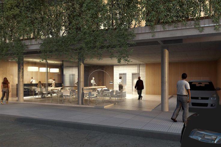 AMENÁBAR | Proyecto C. Autores: Arq. Sebastián Cseh - Arq. Juan Cruz Catania. #arquitectura #architecture #render #hall