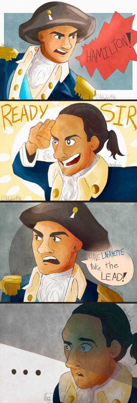the face of a broken man - Alexander Hamilton and George Washington.