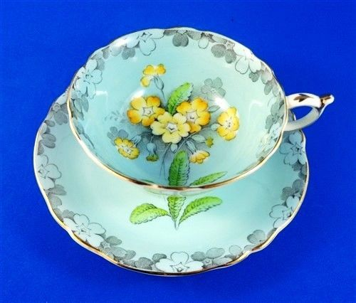 Pretty-Yellow-Primrose-on-Blue-Paragon-Tea-Cup-and-Saucer-Set