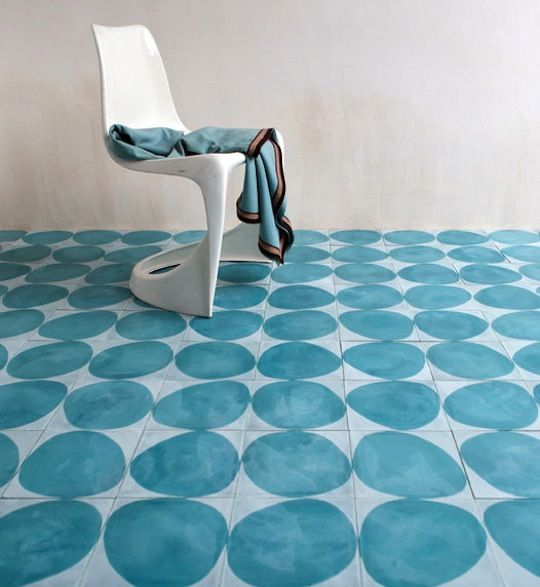 New from Swedish design firm Claesson Koivisto Rune: a collection of handmade encaustic cement tiles inspired by classical Arabic geometrical patterns.    The tiles are made in Morocco according to traditional methods and are available in three patterns—Dandelion, Stone, and Casa—and 15 colors through Marrakech Design in Sweden.