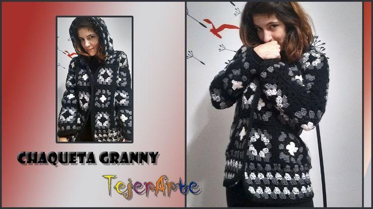 Chaqueta/Campera fácil hecha con Granny Squares --Crochet--