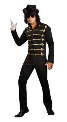 Michael Jackson Black Military Jacket Men's Costume