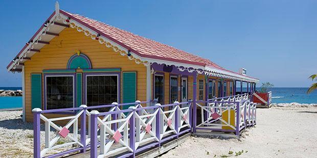 Beach bar at the Sunscape Curacao Resort, Spa & Casino.