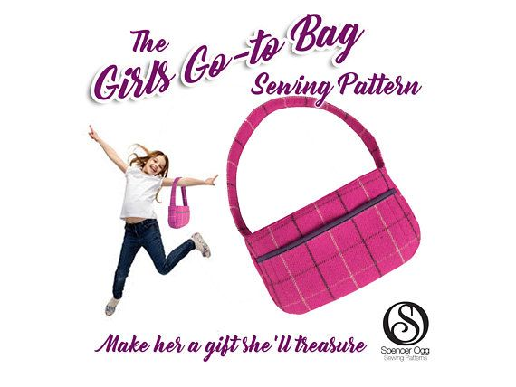 PDF Sewing pattern for The Girls Go-To Bag. The perfect bag for a little girl
