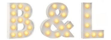 hema verlichting letters b
