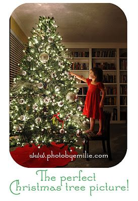 How to take great Christmas tree photos! I'm so glad someone else figured this out!