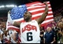 LeBron James #6 of the Team USA   James scored 19 points on a day he joined Michael Jordan as the only players to win the NBA title, regular-season MVP, NBA Finals MVP & Olympic GOLD in the same year.     (Charles Barkley was right!!)     Men's Basketball GOLD Medal game vs Spain on Day 16.