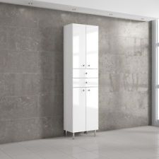 MODERN WHITE TALL BATHROOM STORAGE CABINET UNIT HIGH GLOSS ! ONLY 169£ WOW ! : white gloss bathroom storage  - Aquiesqueretaro.Com