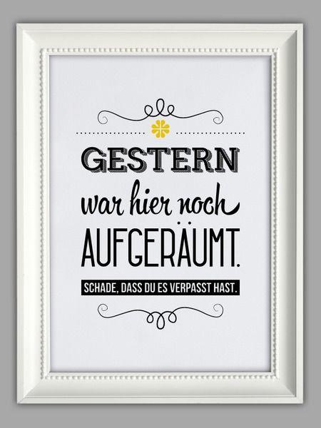 """""""AUFGERÄUMT""""+Kunstdruck+von+Smart-Art+Kunstdrucke+auf+DaWanda.com"""