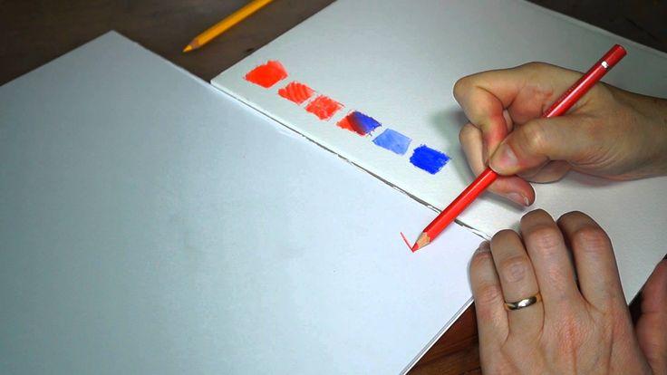 Tekenen met aquarel potloden
