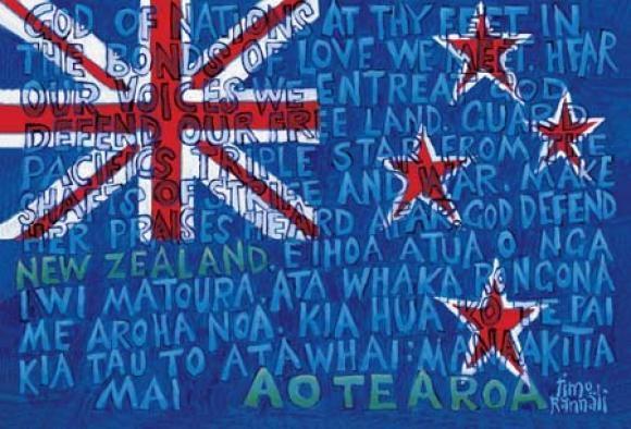 Aotearoa NZ Flag Print by Timo Rannali for Sale - New Zealand Art Prints