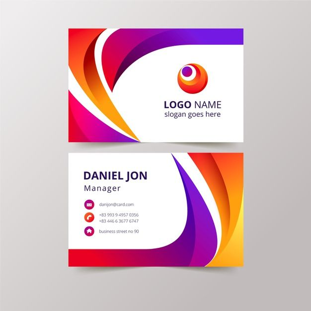Download Abstract Business Cards Concept For Free In 2020 Business Cards Creative Templates Free Business Card Templates Colorful Business Card