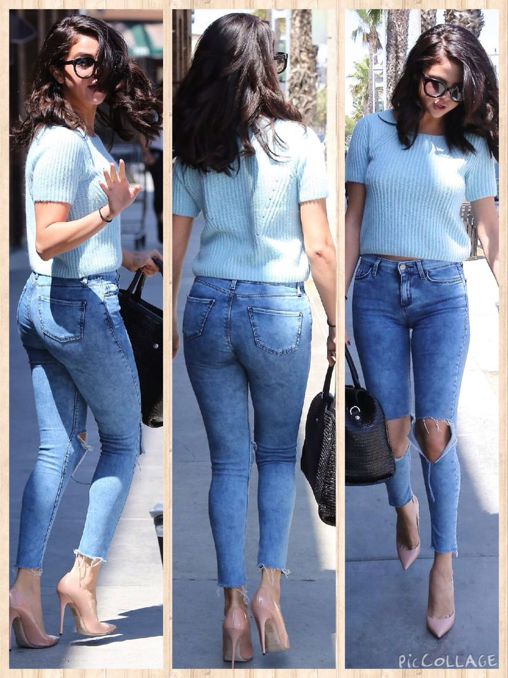 Selena Gomez Booty in Jeans while out in LA