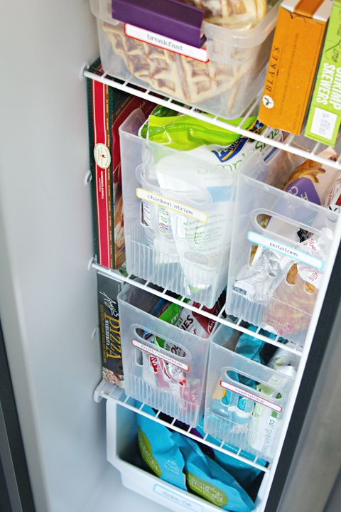 Freezer organization for a side by side.  I feel like we never have enough space for all the food!