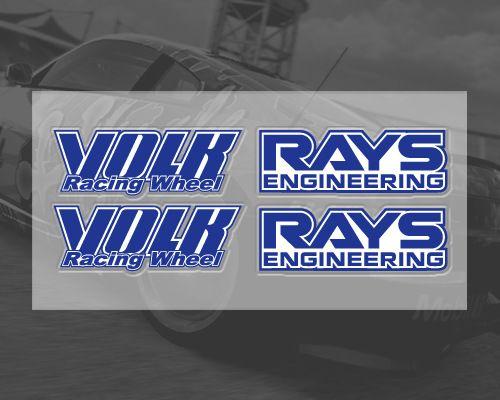 Etie volk rays車ステッカー用ホイール車のチューニングvolkレーシング自己粘着防水オートバイアクセサリー用アウディ、vw、トヨタ