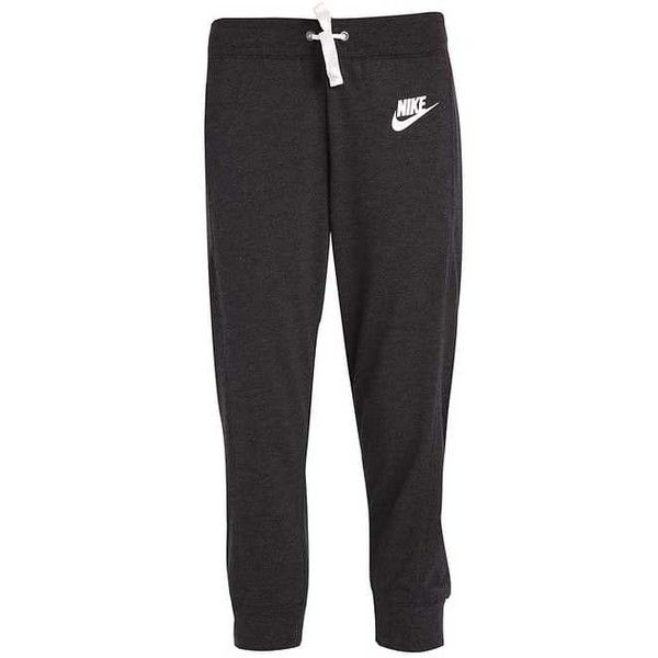 GYM Tracksuit bottoms black heather/sail (€42) ❤ liked on Polyvore featuring activewear, activewear pants and track pants