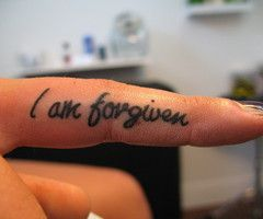 Thank you, Jesus.Tattoo Ideas, Daily Reminder, Tattoo Forgiven, Fingers Tattoo, Ink Tattoo, A Tattoo, I Am Forgiven Tattoo, Forgiveness Tattoo, Christian Tattoo