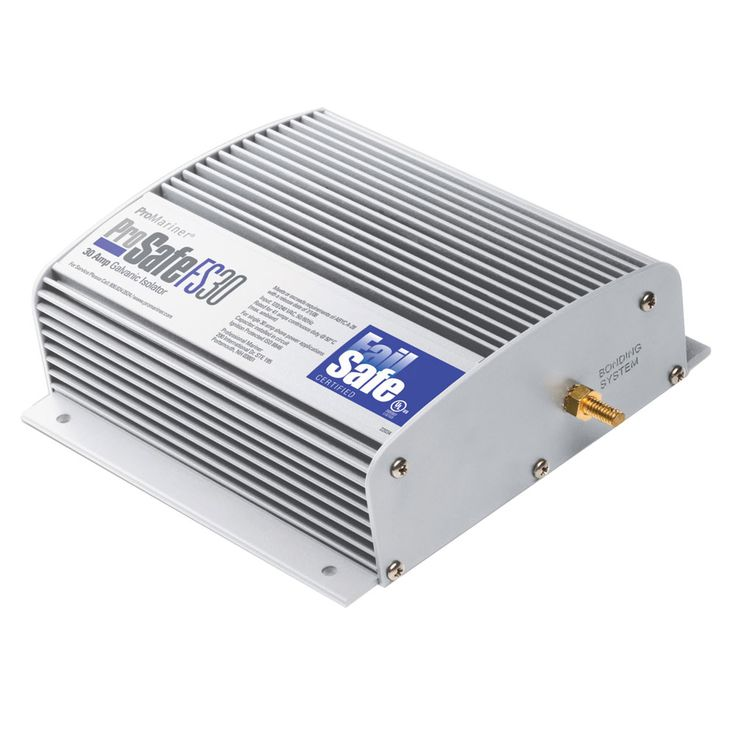 ProMariner ProSafe FAILSAFE 30amp Galvanic Isolator - https://www.boatpartsforless.com/shop/promariner-prosafe-failsafe-30amp-galvanic-isolator/