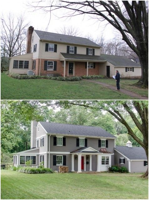 25 best ideas about brick exterior makeover on pinterest for Exterior home redesign