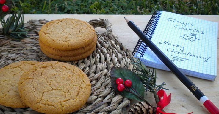 Sabrosas, aromáticas, especiadas y crujientes galletitas de jengibre especiales para estos días frío de Invierno. Todo el sabor de la Navida...