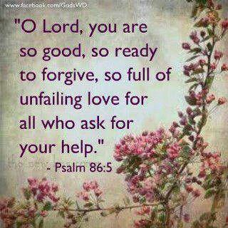 Unfailing love - Psalm 86:5