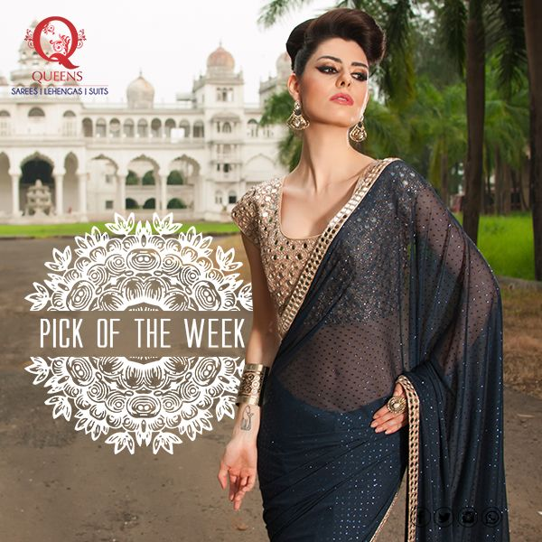 We love this royal look brought up by this saree, what do you think? #QueensEmporium #PickOfTheWeek #Saree