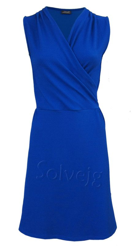 Froy &  Charlie jurk mouwloos kobalt blauw satijn look cobalt blue satin look dress