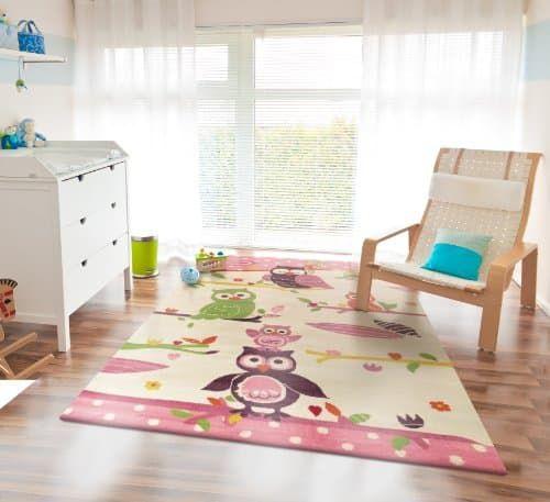 Hochwertiger Kinderteppich Eule 80x150cm günstig und sicher online bestellen!