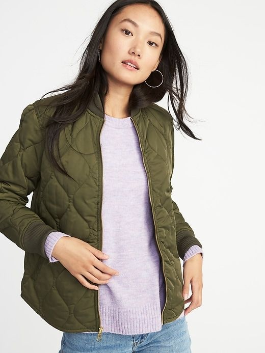 e5613cd88 old navy lightweight army green/olive green quilted jacket | Fashion ...