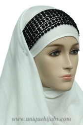 Hijab Band Crochet - neat idea!!