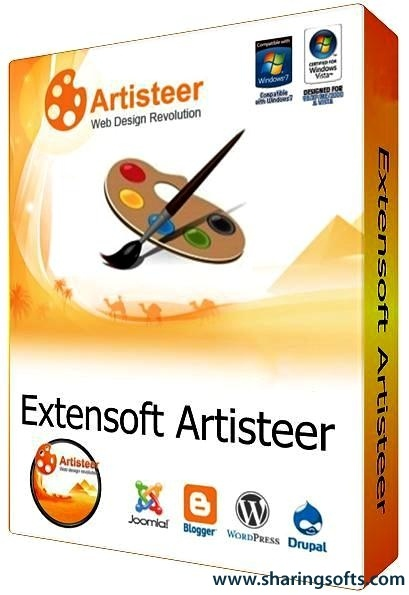 Extensoft Artisteer is a tool to create and design a website or blog template. With Artisteer you can edit, slicing graphics, coding XHTML and CSS, creating Web Design Templates, Joomla templates, Drupal, WordPress and DotNetNuke skins all done in a matter of minutes without Photoshop or Dreamweaver, and does not require any special skills or knowledge of html coding.