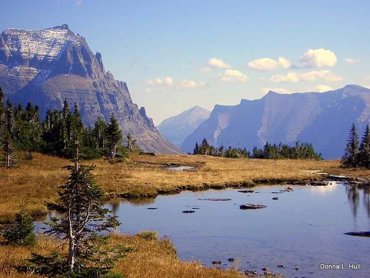 We're looking forward to seeing this scene again when we hike near Logan's Pass in Glacier National Park, Montana. This will be the second time we've hiked at Logan Pass and definitely won't be the last. It's a beautiful Montana travel experience.
