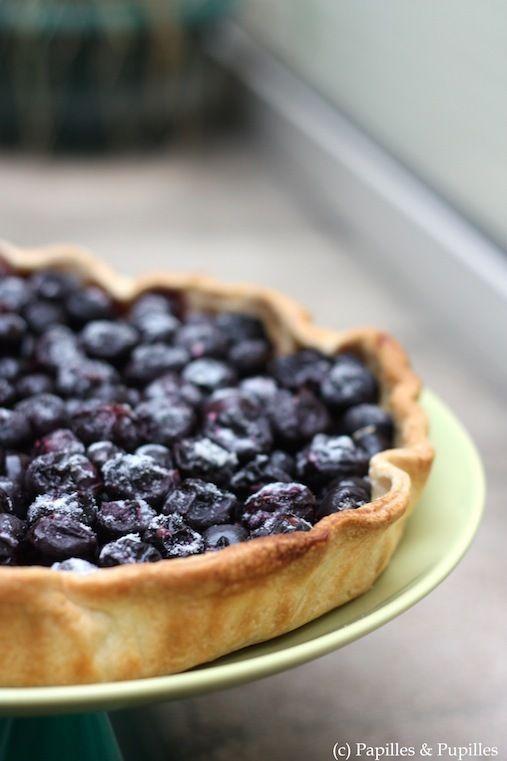 Recette Tarte aux raisins noirs / Recipe Grape Tart ; avec de la Floraline pour absorber le jus