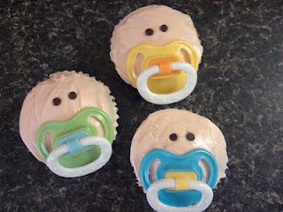 Baby shower cup cakes!