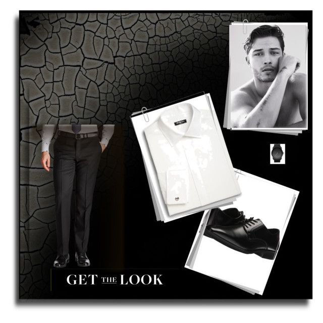 """Untitled #23"" by dzeneta-b ❤ liked on Polyvore featuring Stacy Adams, Saks Fifth Avenue, Diesel, men's fashion and menswear"