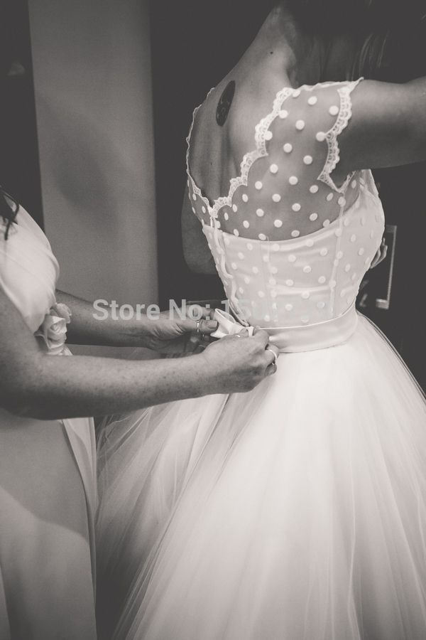 Vintage 1950s Style Polka Dotted Short Wedding Dress Tea Length Little White Dresses 2016 Vestidos de Novia Beach Bridal Gowns-in Wedding Dresses from Weddings & Events on Aliexpress.com | Alibaba Group