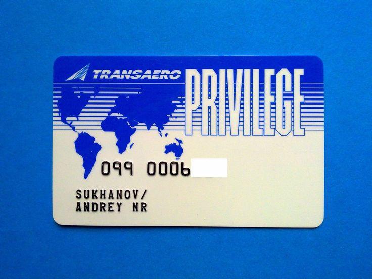 Russia TRANSAERO Airlines PRIVILEGE bonus card | Предметы для коллекций, Кредитные и платежные карты | eBay!