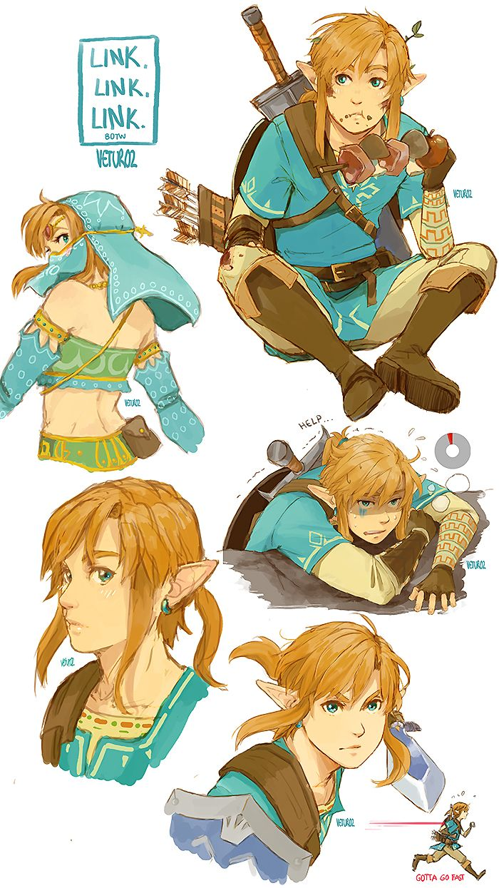 Do I have a problem? Maybe. x') Sadly I don't get to play the new Zelda - for now - but at least I get to draw Link. A lot. Hehehehe.