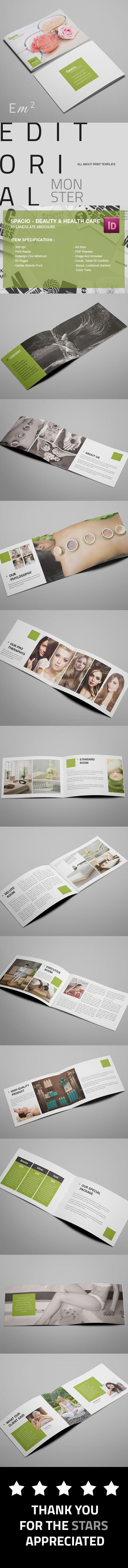 Spacio - Spa Beauty and Health Care A5 Brochure on Behance