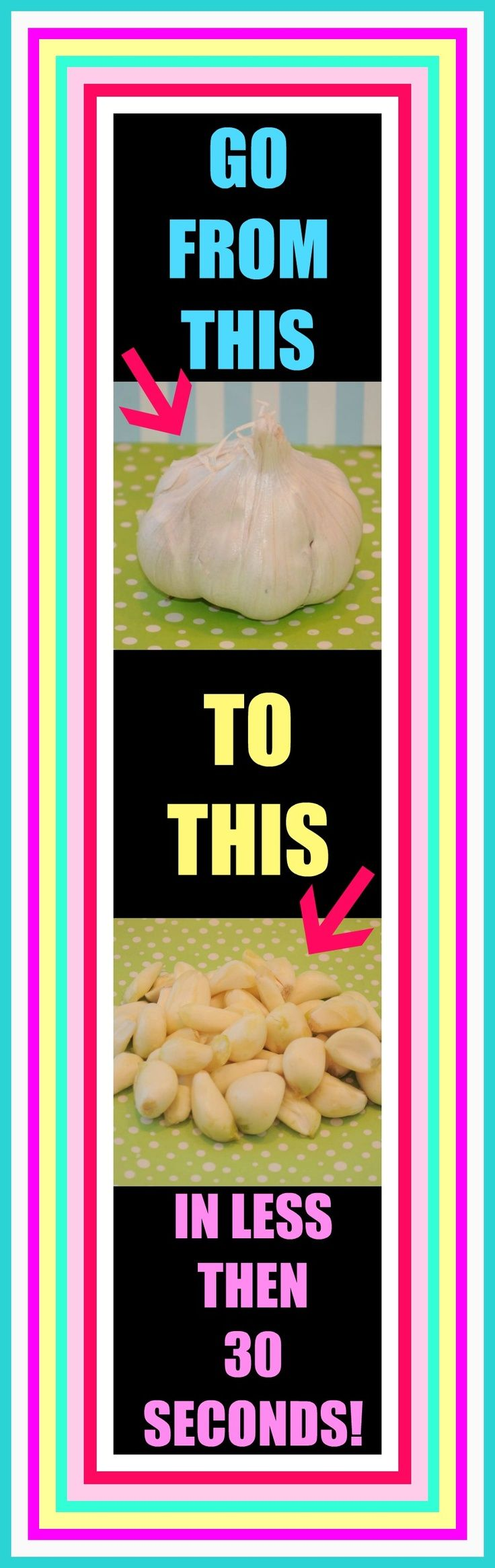 The absolute fastest way to peel a whole head of garlic and in under 30 seconds!!! Oh and with no fancy gadgets or even a knife! It's basically like performing a magic trick in your kitchen. Your gonna have more cloves of garlic then you'll even know what to do with! enjoy!!!