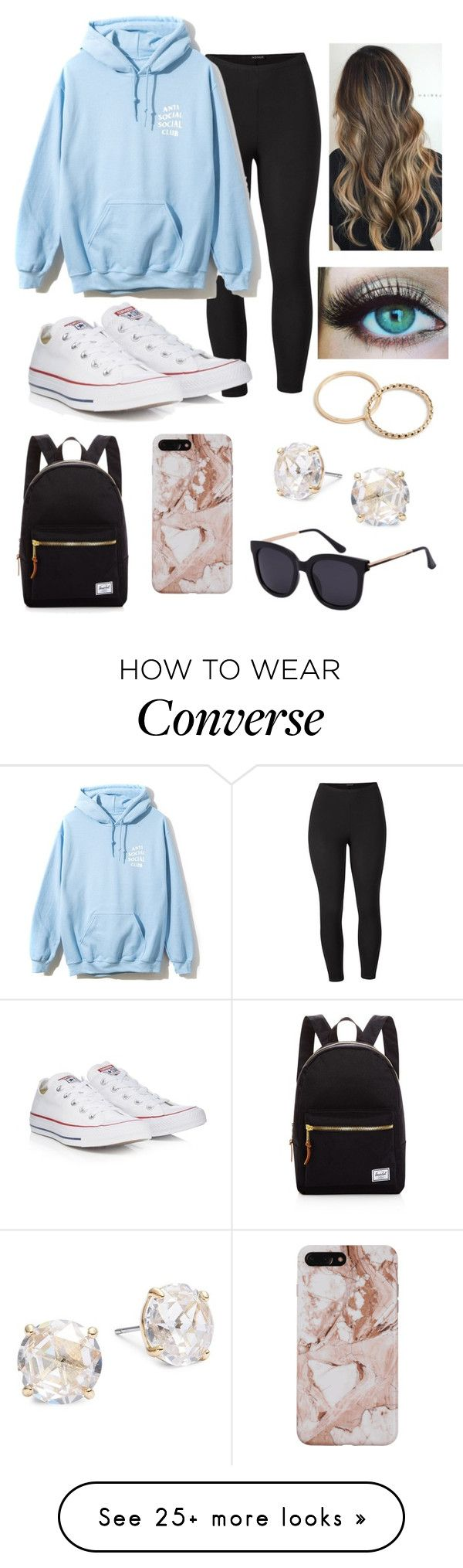 """Untitled #410"" by kaitlyn-skaggs on Polyvore featuring Venus, Converse, Kate Spade, Herschel Supply Co. and plus size clothing"